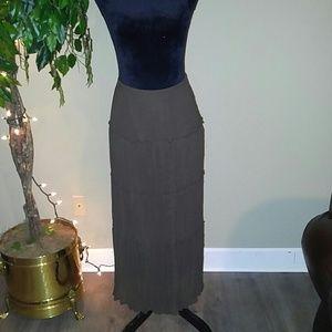 Chocolate brown maxi skirt.